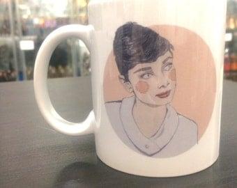 Audrey Hepburn and quote Mug