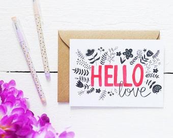 Hello Love - Postcard