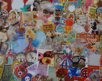 Japan kawaii 50pcs assorted stickers flake