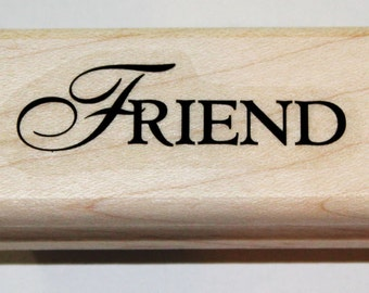 FRIEND Rubber Stamp retired from Stampin Up