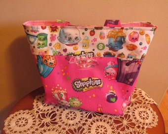 Shopkins Kids Tote, Girl's Tote Bag, Pink Kids Bag