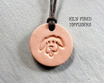 Essential Oil Diffuser Necklace Natural Clay Dog Jewelry Terracotta Kids Aromatherapy Unglazed Terra Cotta Pendant Diffuser Necklaces