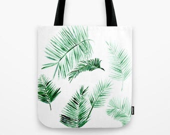 Palm Leaves Tote Bag, beach tote bag, modern tote bag, palm leaf bag, palm leaves bag, palm leaf tote, palm leaves tote, tropical tote bag