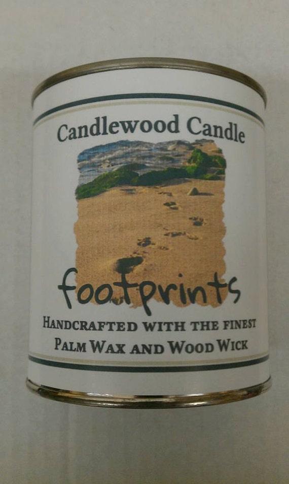 FOOTPRINTS - Authentic FootPrints Wood Wick Candle - Fantastic !