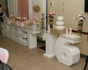 how to make large styrofoam letters