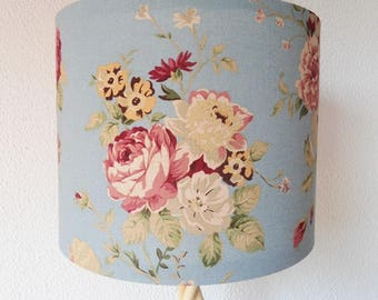 Floral drum lampshade