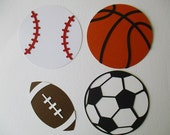 8 Sports (3 size options) Theme Decorations, Diecut Cutouts, for Centerpiece, Birthday Party, Diaper Cake, Baby Shower