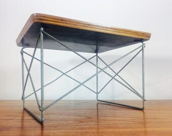 Early 1950 Eames LTR Low Table Zinc Base Full Label Herman Miller