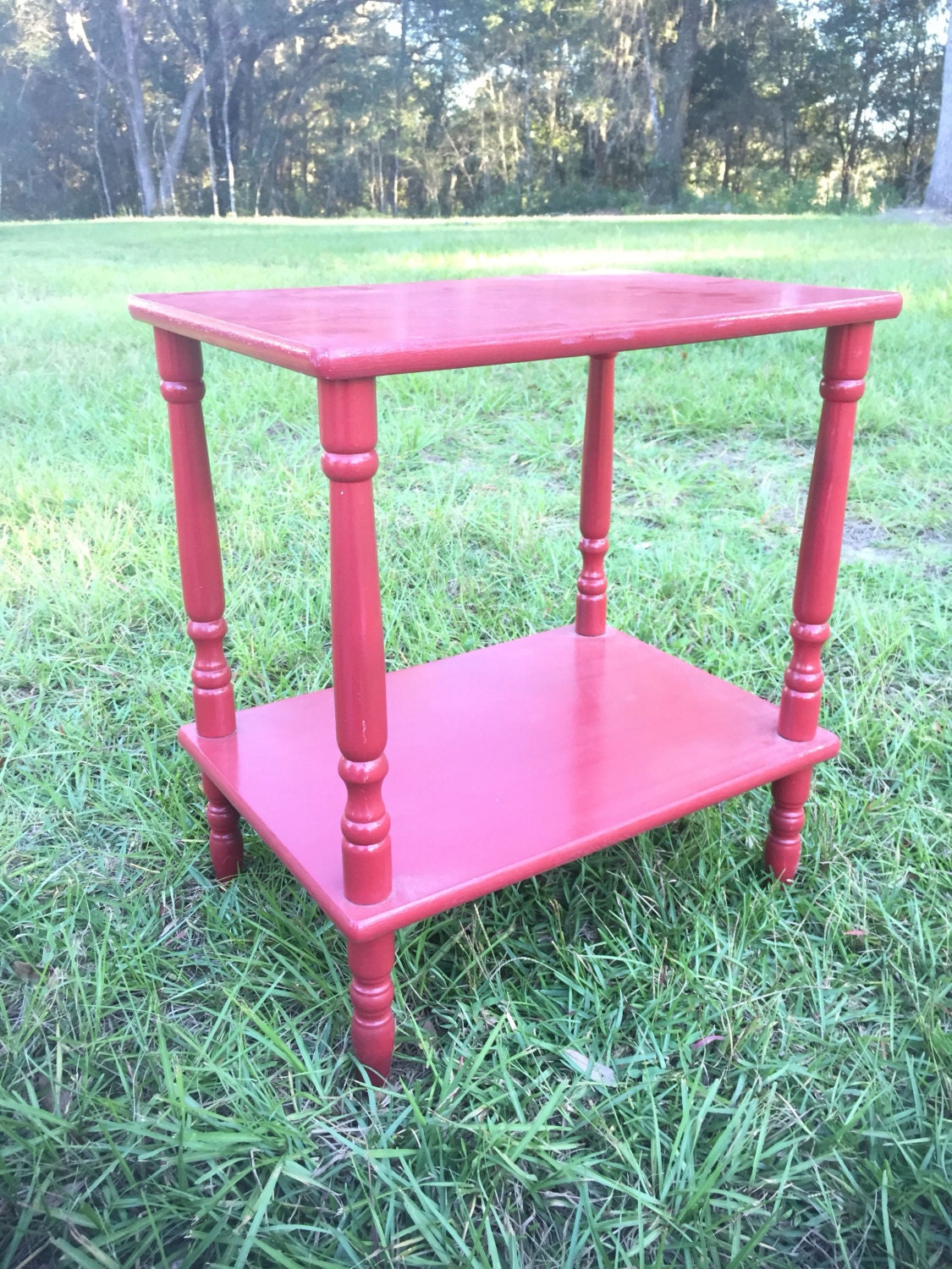 Red side table red end table accent table for Red side table