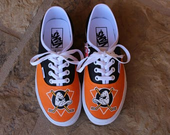 Hand Painted Shoes - Anaheim Ducks
