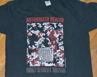 1988 VISION STREET-WEAR vintage 80's skateboard rare original skate Powell Peralta Thrasher t-shirt Large (L) 1980s