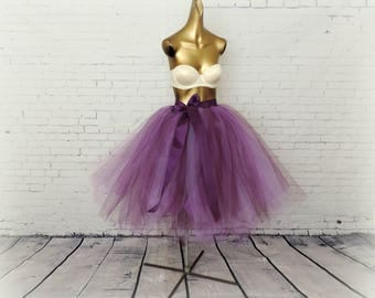 Plum, lavender and purple tea length tutu bridal wedding adult womens tutu engagement photo tutu special occasion tutu sewn tutu