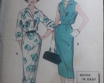 Vintage Butterick 8501 Sewing Pattern Size 18 Shirtdress 1960s Pattern