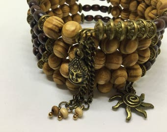 Five Tiered Multi Wrap Bracelet.