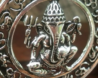 Silver Ganesh Pendant Yoga Necklace
