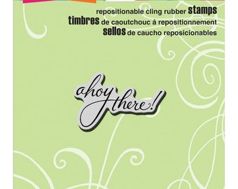 Stampendous!  Cling Stamp Ahoy Sentiment Ahoy There