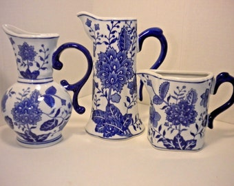Vintage Formalities by Baum Bros. wall pocket vase set of three