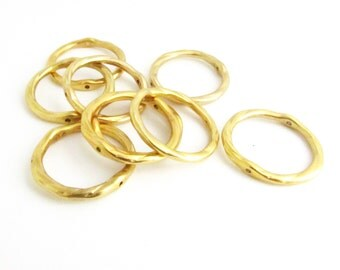 Brass Rings, Round Brass Rings, 20MM Round Rings, Jewelry Findings, Jewelry Supplies