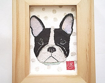 French Bulldog Art, Frenchie Gift, Frenchie Lover Gift, ACEO Original
