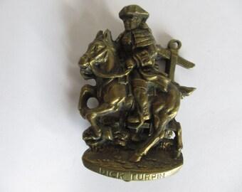 Vintage  Brass Door Knocker Dick Turpin The Highwayman.  15930  Circa 1844