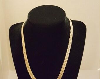 Vintage Flat-Link Fancy Necklace
