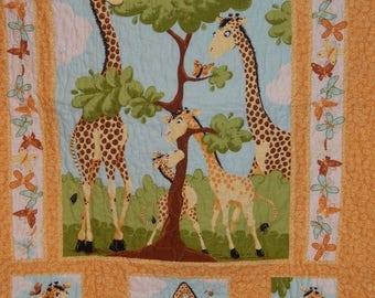 Suzy Bee Giraffe Crib Nursery Toddler Nursery Baby Crib Bedding Baby Shower Present New Baby Gift Crib Ensemble Gender Neutral Gift Playmat