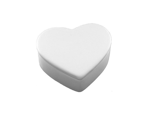 Heart box ceramic bisque paintable pottery craft for Bisque ceramic craft stores