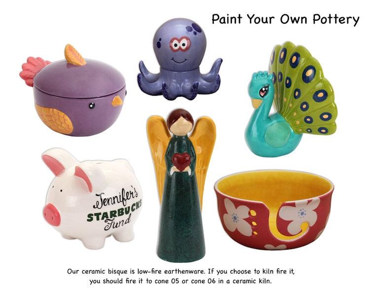 Princess pig piggy bank ceramic bisque paintable pottery for Bisque ceramic craft stores