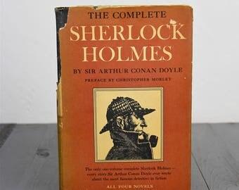 Collectible Antique Sherlock Holmes Book 1930 Sir Arthur Conan Doyle Classic Literature Collectible Vintage Book Fiction