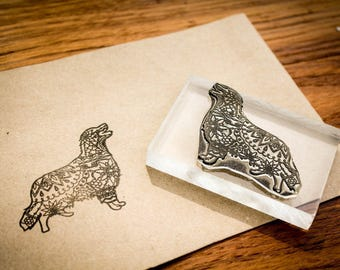 Custom Fine Art Rubber Stamp - 1.5 x 1.5 inches