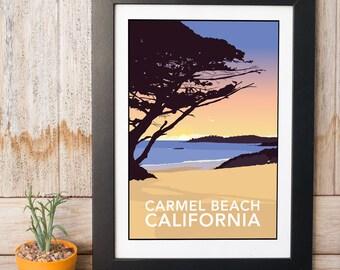 Carmel Beach, California Print