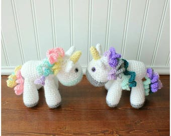 Crochet Unicorn Plush - Small Unicorn Toy - Toddler Toy - Stuffed Animal - Baby Shower Gift - Toddler Gift - Gifts Under 25 - Birthday Gift