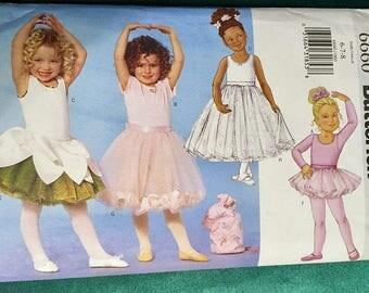 BUTTERICK Pattern 6660~ Sizes 6 thru 8 ~ Girl's Dancewear Pattern