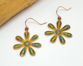 Flower Power Hippie Daisy Earrings - Flower Flower Earrings - Hippie Earrings - Daisy Earrings