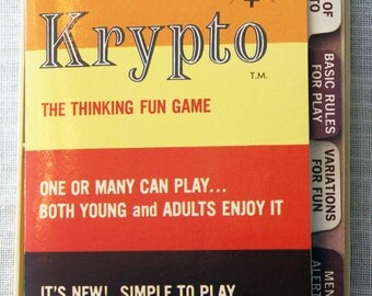 1965 Krypto Card Game