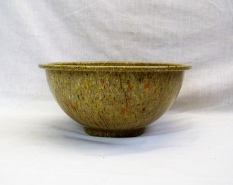 "Vintage Texas Ware malmac confetti mixing bowl splatter bowl speckled 9 7/8"" autumn colors"