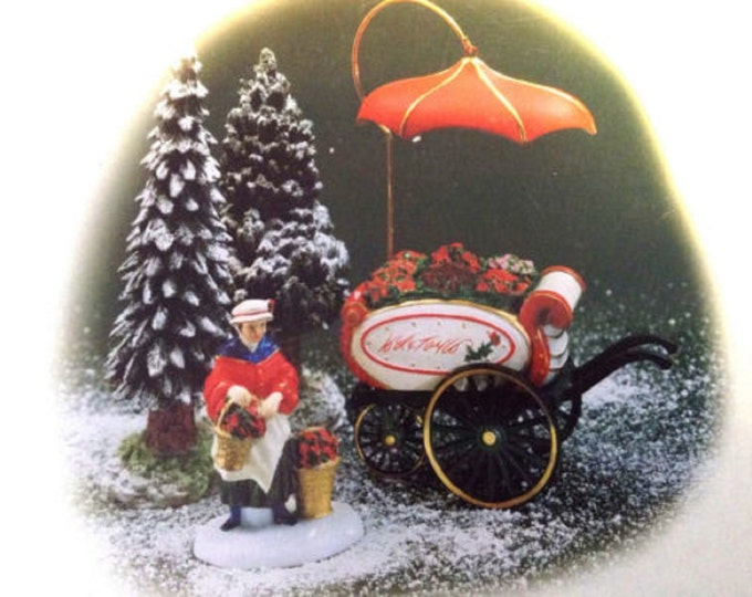 Dept 56 Figurine, Lord and Taylor Flower Cart, Heritage Village Collection,Department 56 Accessories, Gift For Her, Christmas Decor
