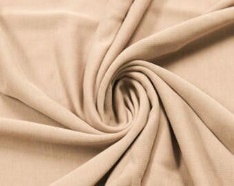 Light Brush Modal Poly Sand Wash Jersey Cupro Knit Fabric by the Yard - Style 681