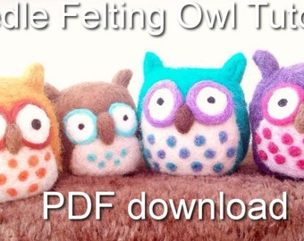 Needle Felting Owl Tutorial PDF download