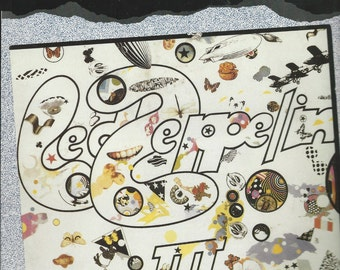 LED ZEPPELIN III - Authentic Guitar-Tab Songbook - Guitar/Vocal - 991 - Includes Complete Solos -  Immigrant Song, Hat's off to Roy + more