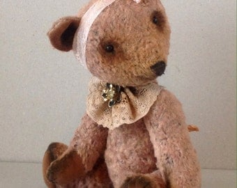 "Artist teddy bear OOAK, jointed teddy ""The Powder"""