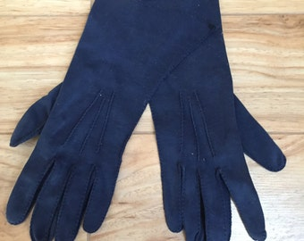 1950's Blue Suede Gloves