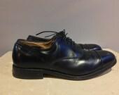 """Allen Edmonds """"Park Avenue"""" BLK cap toe dress shoes Size 8D"""
