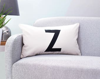 Personalised Initial Letter Cushion - Initial Cushion - Personalised Cushion - Custom Cushion Cover - Scandinavian Cushion - Custom Cushion