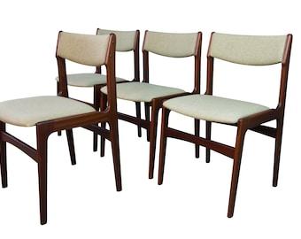 Rosewood Dining Chairs Mid Century Danish Modern