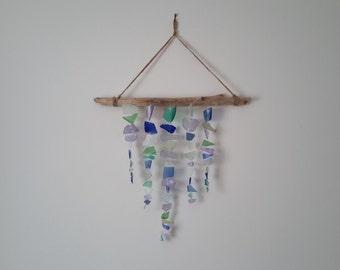 Sea Glass Mobile - Sea Glass Windchime - Sea Glass