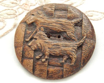 Scottie Dogs- Large Sorroco Pressed Wood Button
