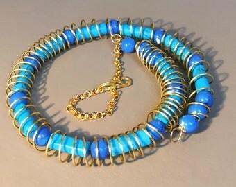 Bead and wirework choker/bracelet