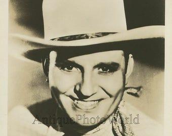 Singing cowboy Gene Autry actor antique music photo