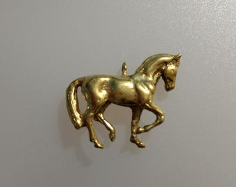 Dressage horse BRONZE pendant Equestrian jewelry DIY